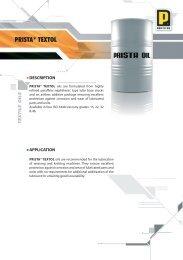 PRISTA® TEXTOL - Prista Oil