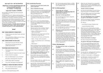 Versicherungsbedingungen - Pritz Tauchsport