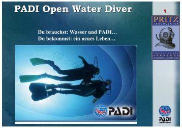 Open Water Diver - Pritz Tauchsport