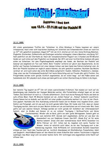 Reisebericht Tauchsafari Rotes Meer 99 von ... - Pritz Tauchsport