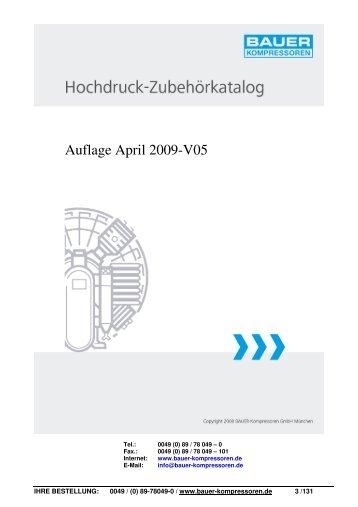 Hochdruckzubehörkatalog - Pritz Tauchsport