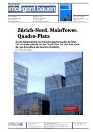 Zürich Nord. Main Tower. Quadro Platz. - Privera