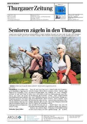 Senioren zügeln in den Thurgau - Privera