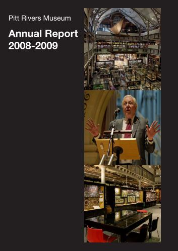 Annual Report 2008-2009 - Pitt Rivers Museum - University of Oxford