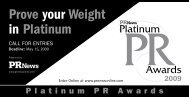Prove your Weight in Platinum - PR News