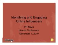 Identifying and Engaging Online Influencers - PR News
