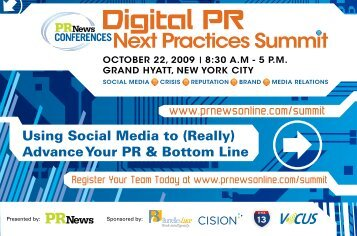 Using Social Media to (Really) Advance Your PR ... - PR News