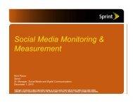 Social Media Monitoring & Measurement - PR News