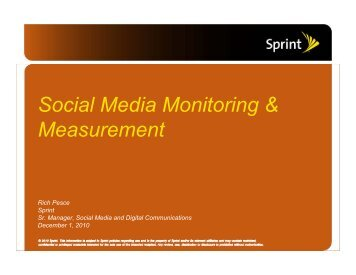 Social Media Monitoring & Measurement - PR News