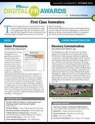 First Class Innovators - PR News