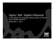 Ogilvy 360º Digital Influence - PR News