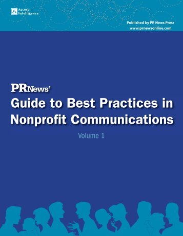 Guide to Best Practices in Nonprofit Communications - PR News