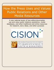 How the Press Uses and Values Public Relations and ... - PR News