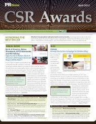 Download the 2012 CSR Awards Special Issue - PR News