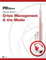 Crisis Management & the Media - PR News
