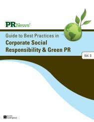 Corporate Social Responsibility & Green PR - PR News