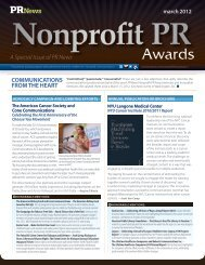march 2012 Nonprofit PR - PR News