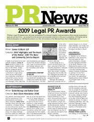2009 Legal PR Awards - PR News
