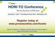 Register today at www.prnewsonline.com/howto