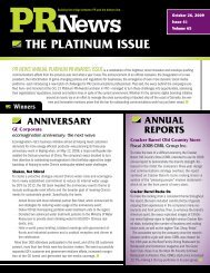 the PlatiNum issue - PR News