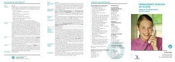 Merkblatt Hörbehinderte Menschen am Telefon - Pro Audito Schweiz
