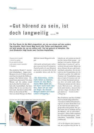 «Gut hörend zu sein, ist doch langweilig ...» - Pro Audito Schweiz