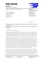 Eisenbahnbundesamt geschrieben - Pro Bahn e. V.