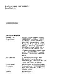 ProCurve Switch 2650 (J4899C) - Spezifikationen