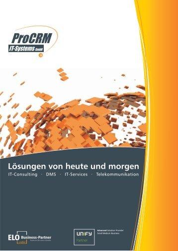 Imagebroschüre - ProCRM IT Systems GmbH