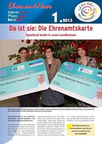 Ehrenamt-News01 2013 - LAG Pro Ehrenamt