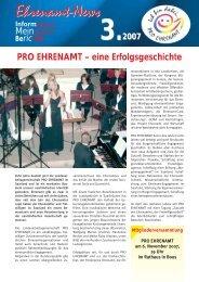 Ehrenamt News 2007 - 03 - LAG Pro Ehrenamt