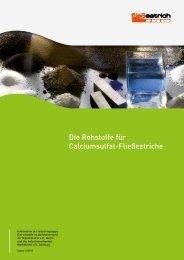 Die Rohstoffe für Calciumsulfat-Fließestriche - IWM