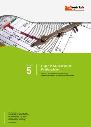 Fugen in Calciumsulfat- Fließestrichen - Knauf Gips KG