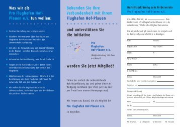 Document 1 - beim Verein Pro Flughafen Hof-Plauen eV