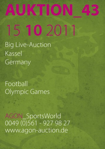43rd AGON Sportsmemorabilia Auction