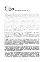 Tätigkeitsbericht 2012 - Pro Igel