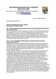 DER BEZIRKSVORSTEHER DES 8. BEZIRKES ... - Pro Josefstadt
