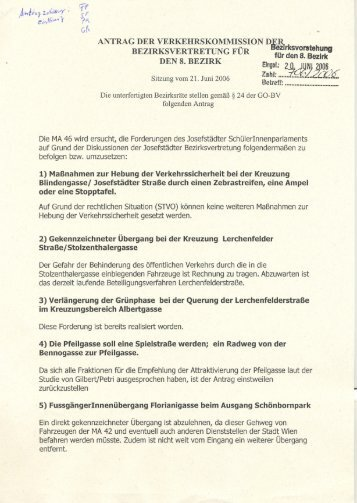 Antrag Gr Ner Weg Durch Die Josefstadt Alexander
