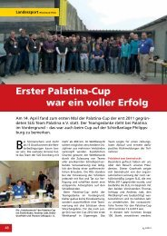 Erster Palatina-Cup war ein voller Erfolg