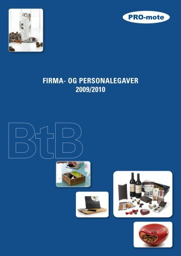 FIRMA- OG PERSONALEGAVER 2009/2010 - PRO-mote