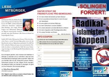 Demo-Flugblätter - Pro NRW