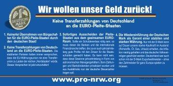 neue Postkartenversion - Pro NRW