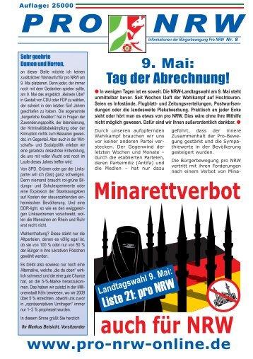 neue Pro-NRW-Wahlzeitung