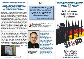Petition gegen den Minarettbau in Bochum - Bürgerbewegung pro ...