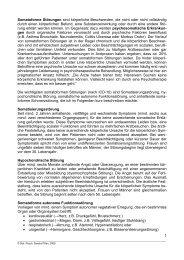 1 Somatoforme Störungen sind körperliche ... - Pro Psychologie