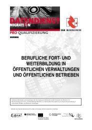 berufliche fort- und weiterbildung in öffentlichen ... - Pro Qualifizierung