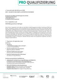07_TW-Doku Programm.indd - Pro Qualifizierung