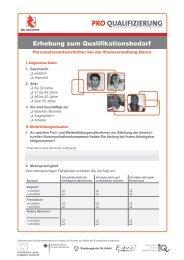 Erhebung zum Qualifikationsbedarf - Pro Qualifizierung