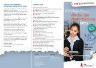 Veranstaltungsflyer - Pro Qualifizierung