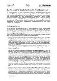 Berufsbezogener Deutschunterricht ... - Migration-online